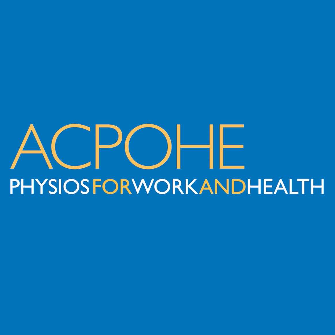 Association of Chartered Physiotherapists in Occupational Health and Ergonomics (ACPOHE)