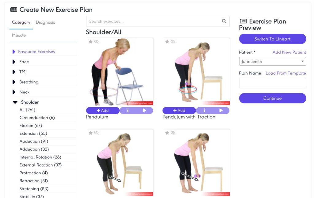 Add exercises to plan