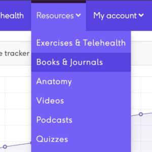 Books and journals menu link