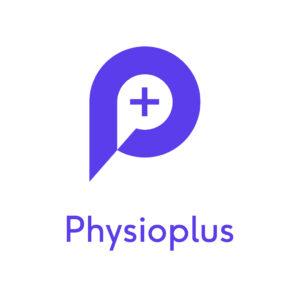 Physioplus logo square - purple on white