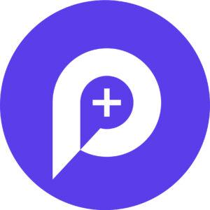 Physioplus logo square no text - white on purple